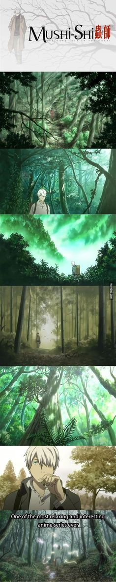 If you just finished some anime series and you want awesome and beautiful adventure. Mushishi, Mushishi Zoku Shou, & there is a Live action movie. I thought anime was better But the movie was still cool. Dc Anime, Anime Comics, Manga Anime, Anime Art, Animes To Watch, Anime Watch, Otaku, Awesome Anime, Anime Love