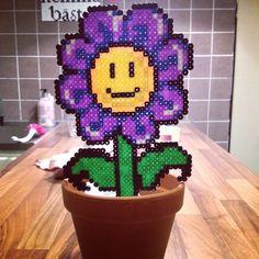 Smiley flower hama beads by josefine_helena