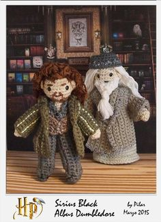 #amigurumi Harry Potter, Dumbledore,Sirius