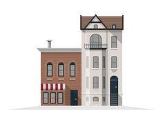 House illustration style