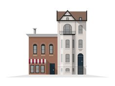 Dribbble - Washington DC Buildings by Chris Brauckmuller