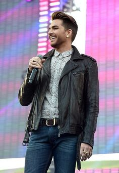 "Snapshot: May 11, 2015 - Adam Lambert - His heart may be a ""Ghost Town"" but Adam Lambert is all smiles onstage at KIIS-FM's Wango Tango 2015 on May 9 in Carson, Calif."