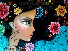 Risultati immagini per romi lerda mandalas Cute Illustration, Watercolor Illustration, Cute Images, Illustrations, Medium Art, Cute Art, Mixed Media Art, Unique Art, Art Girl