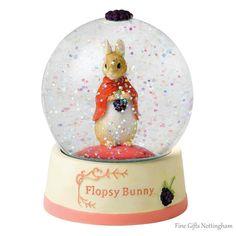Beatrix Potter Flopsy Bunny Snow Globe - World of Beatrix Potter Snow Globes A26962 #FineGiftsNottingham #BeatrixPotterFlopsyBunnySnowGlobe