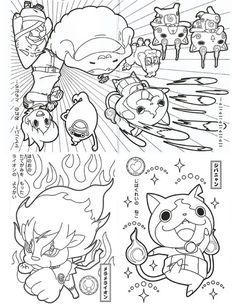 Watch Yo Kai Coloring Pages   Things to Wear   Pinterest   Pokémon