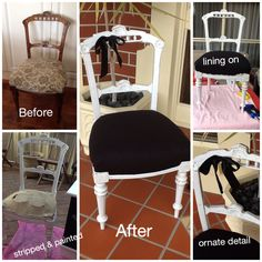 Beautiful refurbished antique Parlour chair www.facebook.com/Jomarievintagefurniture