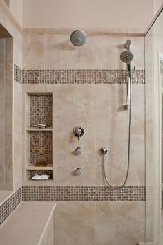 Tile Bathroom Shower Design - Your bathroom is a wonderful place to unleash all of your interior design ideas. Shower Remodel, Bathroom Remodel Master, Bathroom Shower Tile, Bathroom Makeover, Modern Bathroom, Bathroom Renovations, Amazing Showers, Bathroom Design, Beautiful Bathrooms