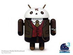 Android Mini Series 3 Professor Skully Mcrivethead by Huck Geel 1/16 Figure