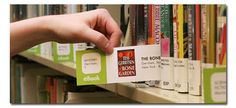 Another great way to promote a library's ebook collection is to develop shelf cards. These can be inserted into the books themselves or placed underneath them. This gives patrons a picture of the cover art and name of the book, as well as a web-link to the book entry in the library's computer system. This is a little bit more extensive, but libraries have seen a 100% increase in loan-checkouts when they employ this method.