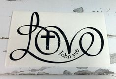 LOVE John 3:16 Decal Sticker 3 x 5 inches by KWDelights on Etsy