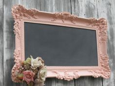 victorian baby girl nursery | Chalkboard Pink Baroque Ornate Nursery Memo Board Decor Baby Girl ...