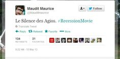 #RecessionMovie : Twitter s?amuse avec la récession