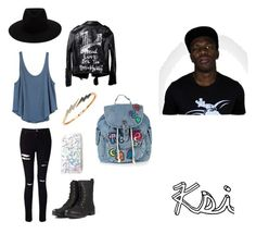 """""""Ksi inspired outfit #sidemen"""" by mollie-fagan on Polyvore featuring Miss Selfridge, RVCA, Topshop, Bee Goddess and rag & bone"""