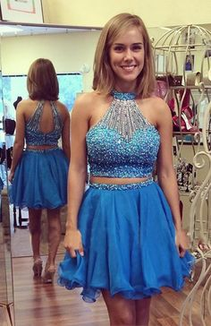 sexy two piece homecoming dresses, high quality homecoming dresses, beaded homecoming dresses, 2016 homecoming dresses