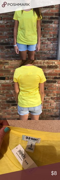 NWT Old Navy yellow top NWT bright yellow top from Old Navy Old Navy Tops