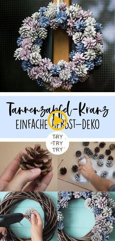 Herbstlicher Tannenzapfen-Kranz | Herbst-Deko | DIY Deko | Dekoration | Tannenza...