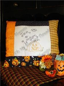 Jack -O- Lantern Embroidery Pattern (A01) Embroidery Patterns by Oh My Bloomin' Threads