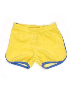 Yellow blue terry Arthur shorts - Lily-Balou
