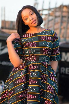 African print dress Ankara print African by EssieAfricanPrint