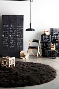 Make a blackboard cupboard. Chalk creativity up to lateral thinking and blackboard paint.