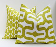 Hey, I found this really awesome Etsy listing at https://www.etsy.com/listing/120977130/lime-green-pillow-set-16x16-inch