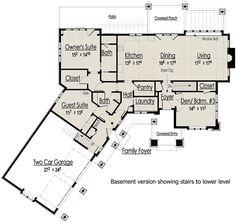 Plan 18248BE: Mountain Escape with Bonus Living Suite