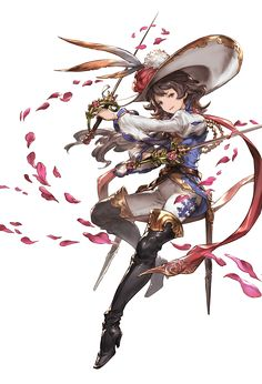 View an image titled 'Ange, Battle Art' in our Granblue Fantasy art gallery featuring official character designs, concept art, and promo pictures. Female Character Design, Character Design Inspiration, Character Concept, Character Art, Concept Art, Granblue Fantasy Characters, Face Anime, Manga Kawaii, Fantasy Images