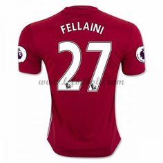 Billige Fodboldtrøjer Manchester United 2016-17 Fellaini 27 Kortærmet Hjemmebanetrøje