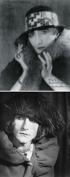 AFYE summer camp 2 ... Duchamp as his alter-ego, Rrose, photographed by Man Ray