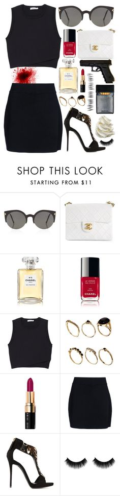 """""""Oups.. Bad place Bad time.."""" by tyabluue ❤ liked on Polyvore featuring RetroSuperFuture, Chanel, A.L.C., ASOS, Bobbi Brown Cosmetics and Giuseppe Zanotti"""