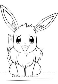 Eevee Pokemon coloring page from Generation I Pokemon category. Select from 21720 printable crafts of cartoons, nature, animals, Bible and many more.