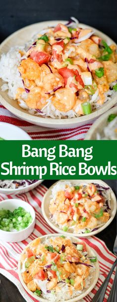 Bang Bang Shrimp Rice Bowls are easy and delicious! With the signature Bonefish . - Bang Bang Shrimp Rice Bowls are easy and delicious! With the signature Bonefish Grill Bang Bang sau - Fish Recipes, Seafood Recipes, Asian Recipes, Cooking Recipes, Healthy Recipes, Recipies, Easy Tasty Meals, Bonefish Grill Recipes, Cod Recipes