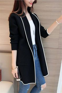 Pure Color Fashion Lapel With Loose Long Sleeve Shirt