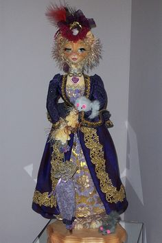 The original cat doll that inspired Madame LeChat.  This one was made for a friend for a birthday gift.