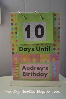 Cute idea for countdowns prior to big events