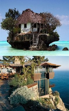 So which island house would you choose? a gift from Jose Ochoa Castillo Beautiful Places To Visit, Places To See, Places Around The World, Around The Worlds, Overseas Adventure Travel, Tree Hut, Architecture, Dream Vacations, Wonders Of The World