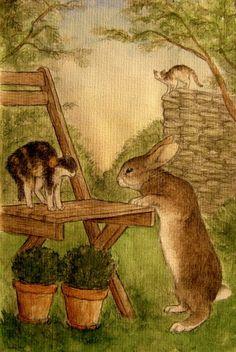 Garden Art   Rabbit   Curious Peter