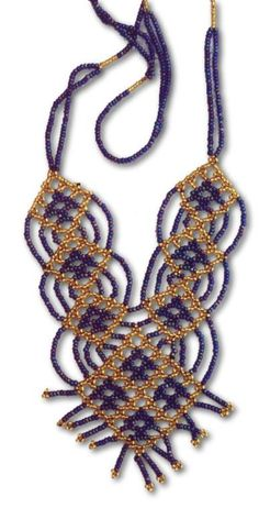 Bedouin beaded necklace  Netting stitch  #heartbeadwork
