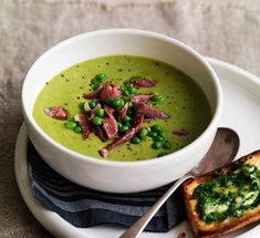 Australian Gourmet Traveller recipe for pea and ham soup.