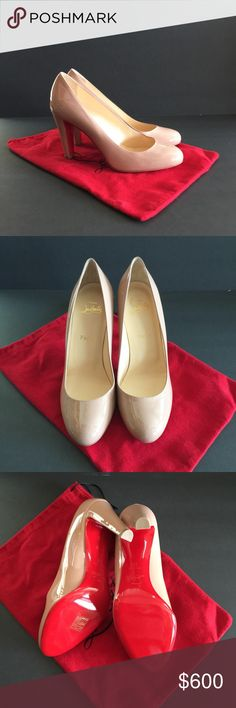 AUTHENTIC CHRISTIAN LOUBOUTIN FIFIFA PATENT PUMP NEW! 100mm heel. Dust bag, no box. Closed, round tie, patent leather. Size 39, AMERICAN SIZE 8.5. Christian Louboutin Shoes Heels