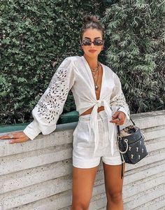 The main trends of past decades that are with everything!, Beach Outfits, The main trends of past decades that are with everything! Trendy Summer Outfits, Short Outfits, Casual Outfits, Cute Outfits, Girl Outfits, Beach Outfits, Party Outfits, Outfit Summer, Look Fashion