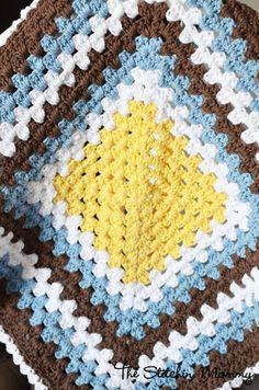 Crochet Granny Stitch Blanket - Etsy $35.00
