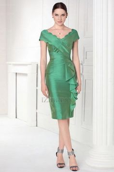Sheath/Column Scoop Taffeta Homecoming Dresses at IZIDRESSBUY.com