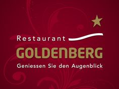 Logo with fancy background for my client Restaurant GOLDENBERG in Winterthur, Switzerland