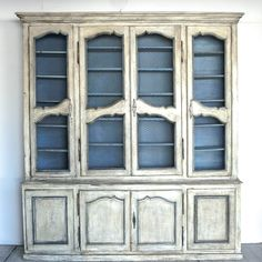 French Painted Bookcase - Decorative Collective