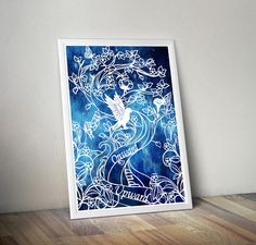 Onward and Upward - Print of Original Papercut Illustration - Fine Art Print - Inspirational Quote - pinned by pin4etsy.com