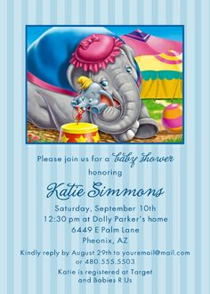 Dumbo the Elephant Baby Shower | 400px