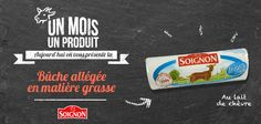 Buche de fromage de chèvre allégée en matières grasses. #Soignon