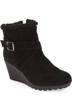 Main Image - Hush Puppies® 'Amber Miles IIV' Faux Shearling Lined Waterproof Wedge Bootie (Women) WEF footwear