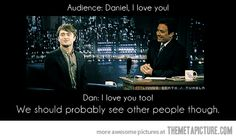 Awesome Daniel Radcliffe quote -- Harry Potter